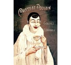 """Plaque publicité """" Chocolat Poulain """""""