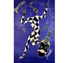 """Plaque publicité """" Perrier silhouette """""""
