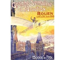 """Plaque publicité  """" Grande semaine d'Aviation de Rouen  """""""