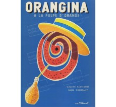 """Plaque publicité """" Orangina Chapeau """""""