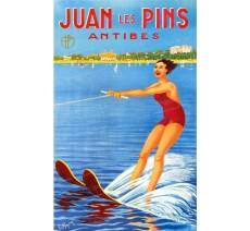 """Plaque publicité  """"  Juan les Pins  """""""