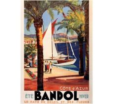 """Plaque publicité  """" Bandol """""""