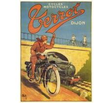 """Plaque publicité  """"  Cycles Perrot Dijon  """""""