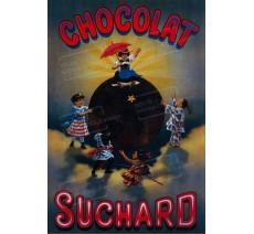 """Plaque publicité  """"Chocolat Suchard 5 fillettes  """""""
