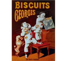 """Plaque publicité """" Biscuits Geoges """""""