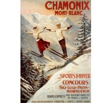 """Plaque publicité  """" Chamonix Mont Blanc  """""""