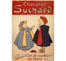 """Plaque publicité """"Chocolat Suchard C'est le meilleur"""""""