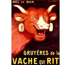 """Plaque publicité  """"Vache qui rit"""""""