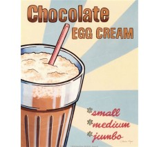 "Plaque publicité ""Chocolat egg cream"""