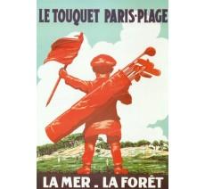 """Plaque publicité    """"Le Touquet Paris Plage """""""