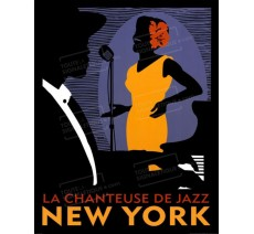 "Plaque publicité ""Jazz New York """