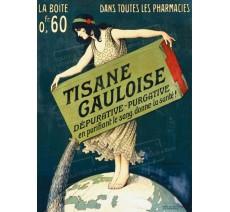 """Publicité Vintage  """"Tisane Gauloise"""" sur plaque alu"""