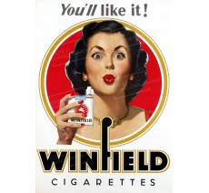 """Publicité Vintage  """"Winfield you'll like it"""" sur plaque alu"""