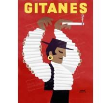 """Publicité Vintage """"Gitanes"""" sur plaque alu"""