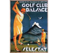"""Publicité Vintage  """"Golf Club d'Alsace """" sur plaque alu"""