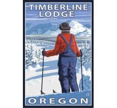 """Publicité Vintage  """"Timberline Lodge"""" sur plaque alu"""