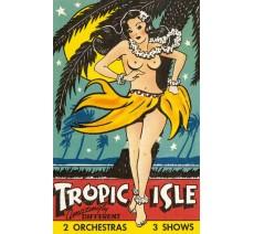 """Publicité Vintage """"Tropic Isle"""" sur plaque alu"""