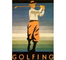 """Publicité Vintage  """"Golfing"""" sur plaque alu"""