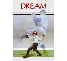 """Publicité Vintage """"Dream"""" sur plaque alu"""