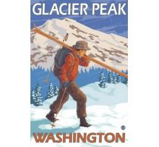 """Publicité Vintage """"Glacier Peak"""" sur plaque alu"""