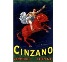 """Publicité Vintage  """"Cinzano"""" sur plaque alu"""