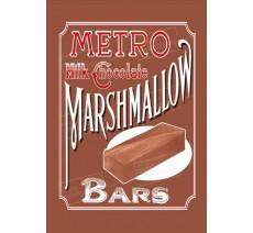 """Publicité Vintage  """"Metro Marshmallow"""" sur plaque alu"""