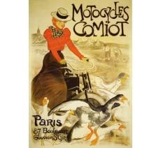 """Publicité Vintage  """"Motocycles Comiot"""" sur plaque alu"""