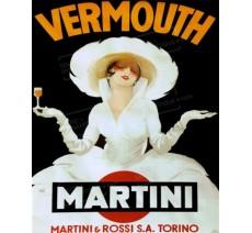 """Publicité Vintage  """"Vermouth Martini"""" sur plaque alu"""