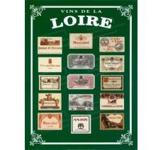"""Publicité Vintage  """"Vins de Loire"""" sur plaque alu"""