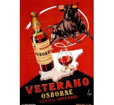 """Publicité Vintage  """"Veterano"""" sur plaque alu"""