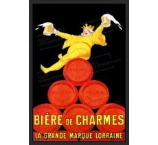 """Publicité Vintage  """"Bière des Charmes"""" sur plaque alu"""