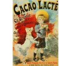 """Publicité Vintage  """"Cacao Lacté"""" sur plaque alu"""
