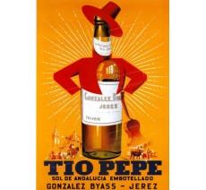 """Publicité Vintage  """"Tio Pepe"""" sur plaque alu"""