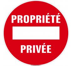 Panneau Propriété privée, avec sens interdit