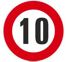 Panneau Limitation 10km/h