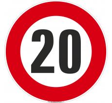 Panneau Limitation 20km/h