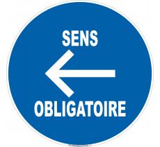 Panneau Sens obligatoire à gauche