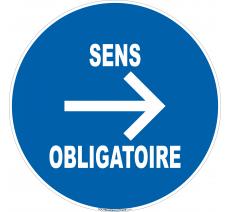 Panneau Sens obligatoire à droite