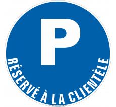Panneau Parking réservé à la clientèle