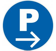 Panneau Parking à droite