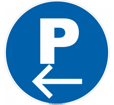 Panneau Parking à gauche