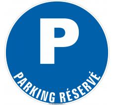 Panneau Parking réservé