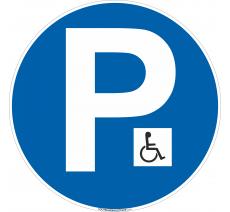 Panneau Parking Handicapé logo
