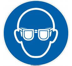 Panneau Port de lunettes obligatoire