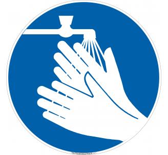 Panneau Lavage mains obligatoire