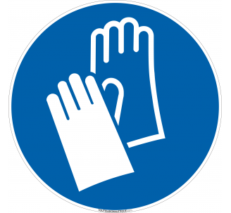 Panneau Port gants obligatoire