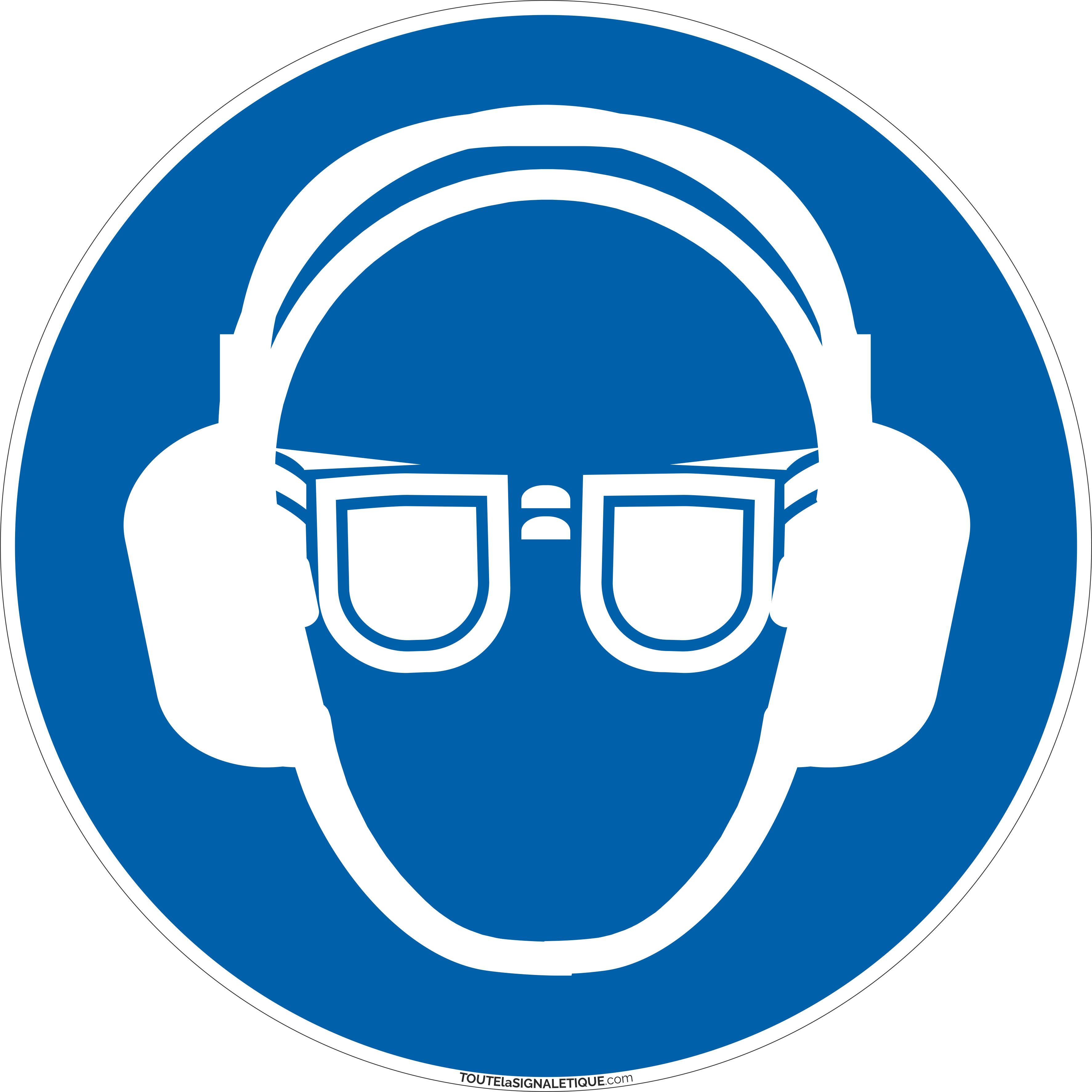 Port lunettes et casque anti-bruit obligatoire obligatoire formats et  matières au choix 78fad0d70264