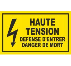 Panneau Haute tension , dim: 200x300mm