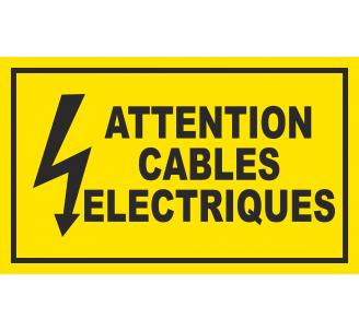 Panneau Attention câbles électriques , dim: 200x300mm