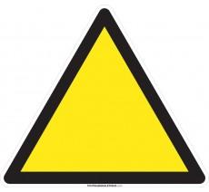 Panneau Danger vierge, forme triangulaire